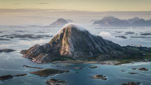 Øya Bolga sett fra lufta
