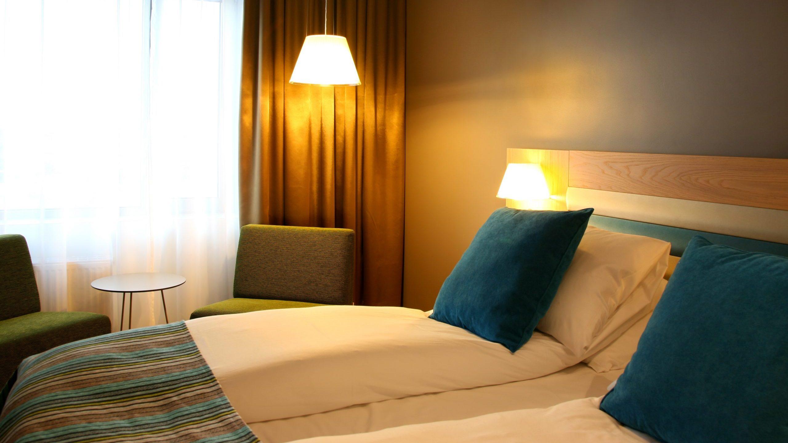 Bilde fra ett av de nyeste rommene på Thon Hotel Brønnøysund