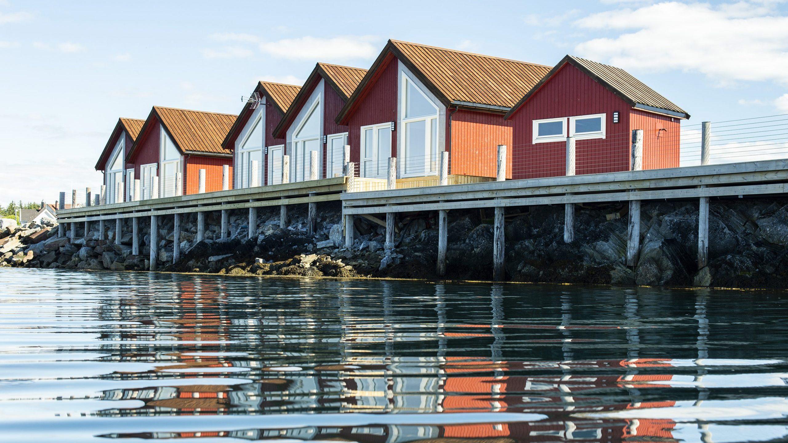 Norsk Havbrukssenter - Rorbu utsikt fra havet