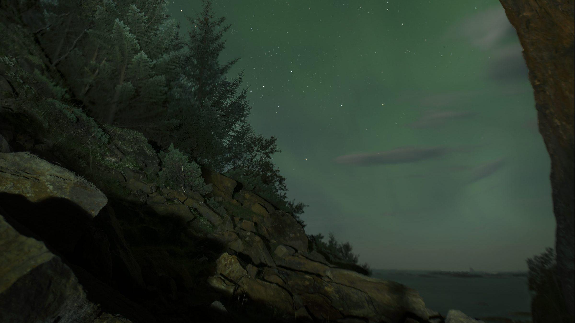 Nordlys sett fra Tonneshølet