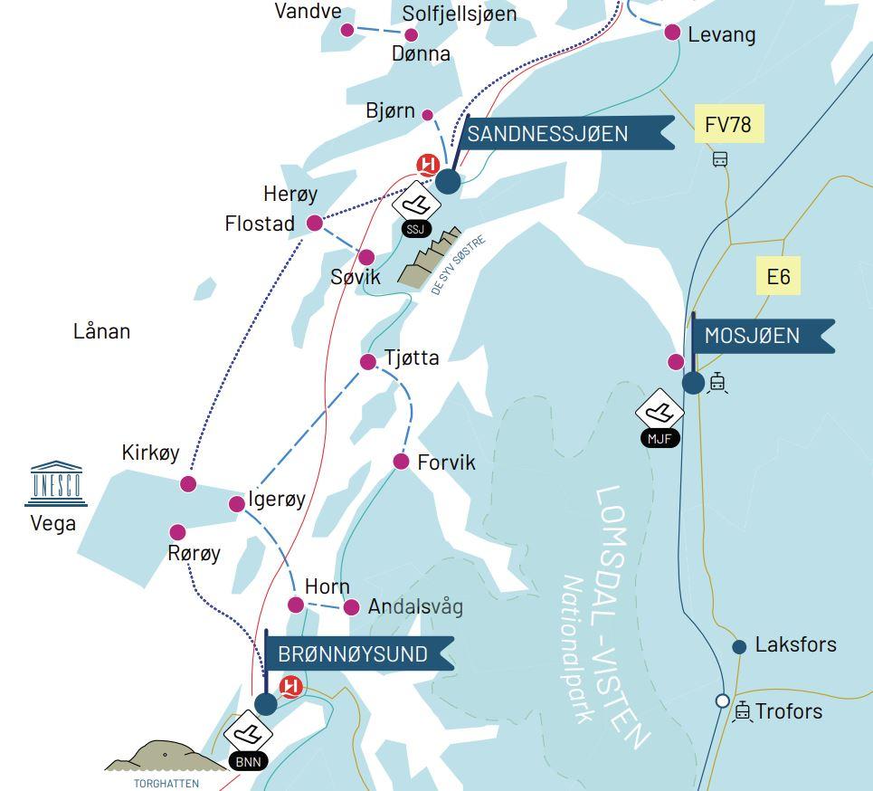 Sykkeltur ved Brønnøysund
