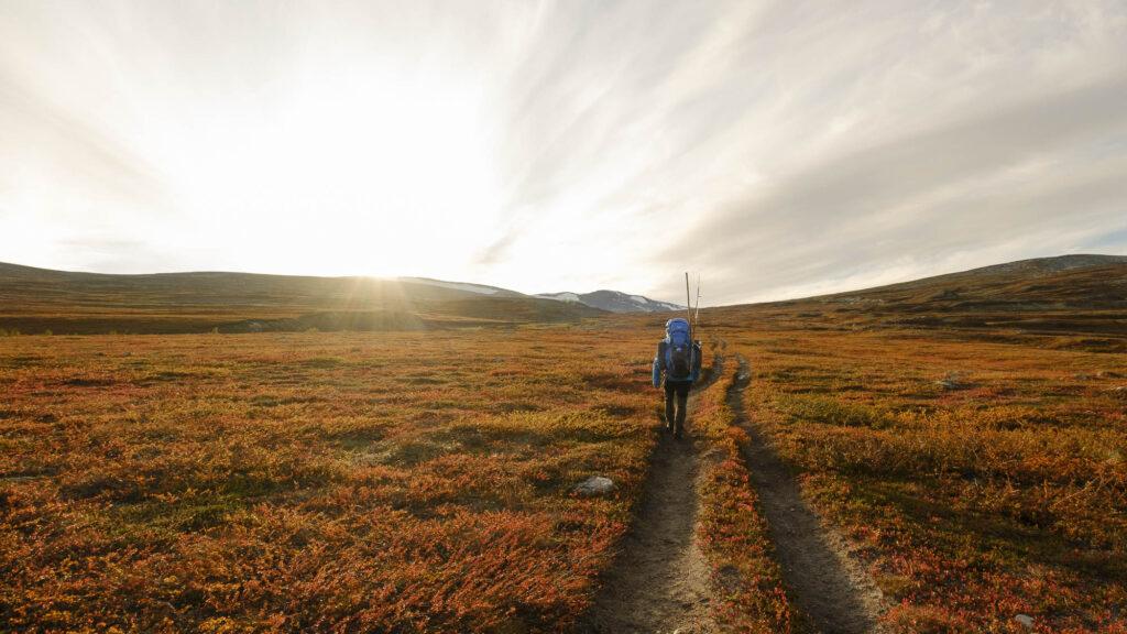 Turstien fra Semska til Saltfjellstua i Saltfjellet